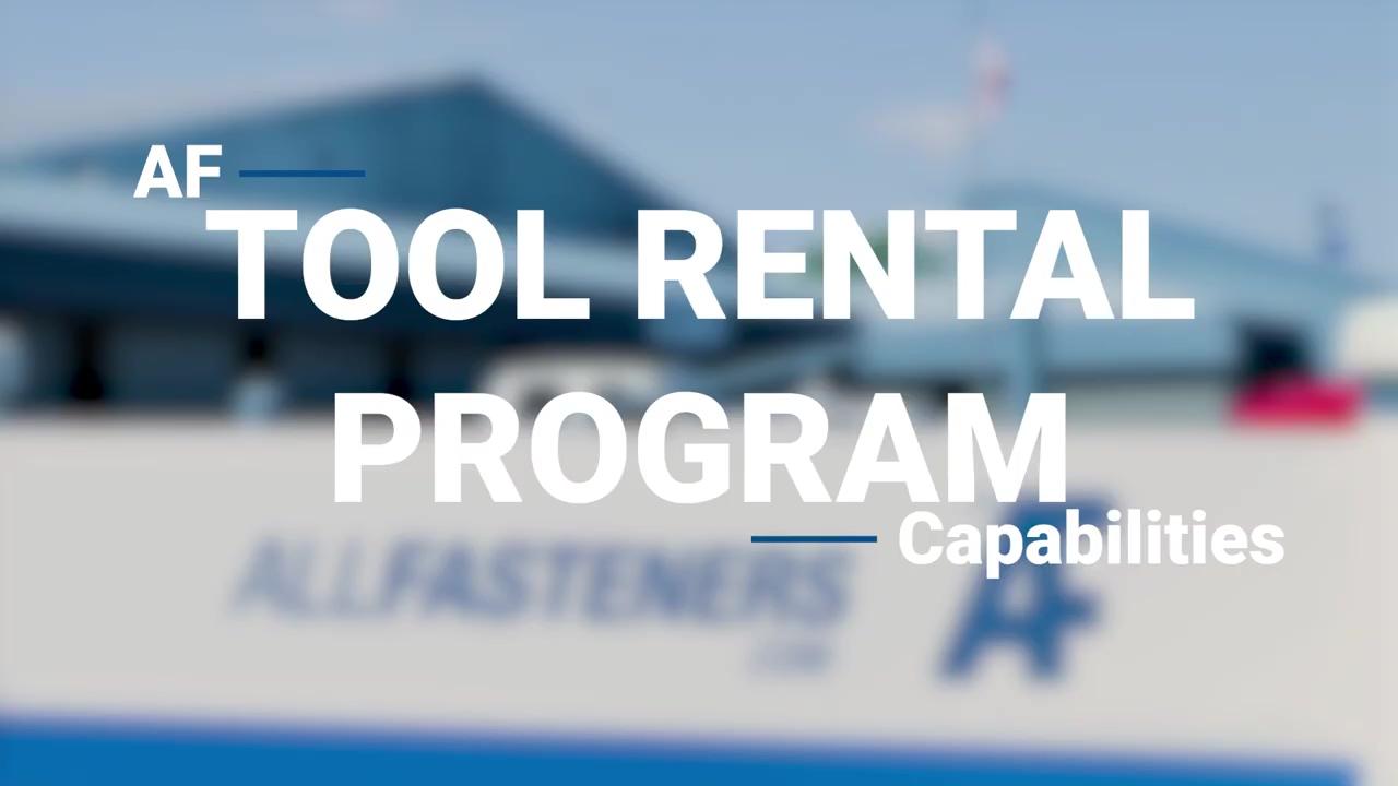 Overview - Tool Rental Program