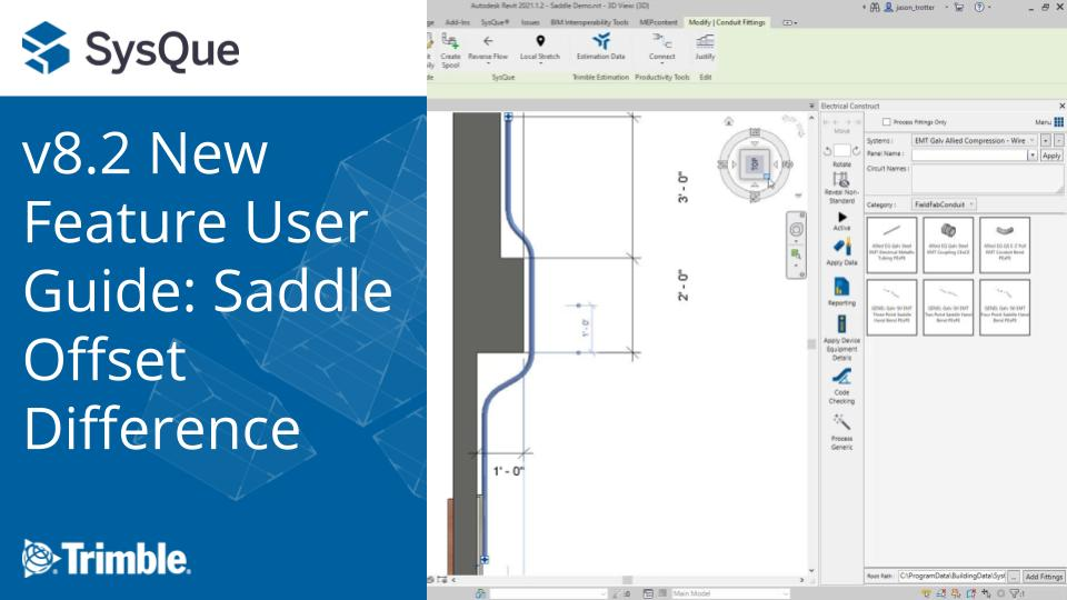 SysQue v8.2 New Feature User Guide: Saddle Offset Difference