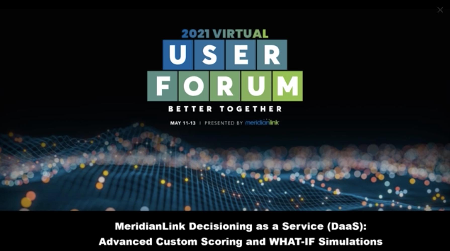 MeridianLink Decisioning as a Service (Daas)