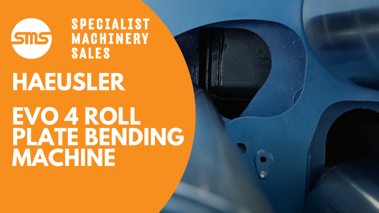 Haeusler EVO 4 Roll Plate Bending Machine - The Bending Evolution Specialist Machinery Sales