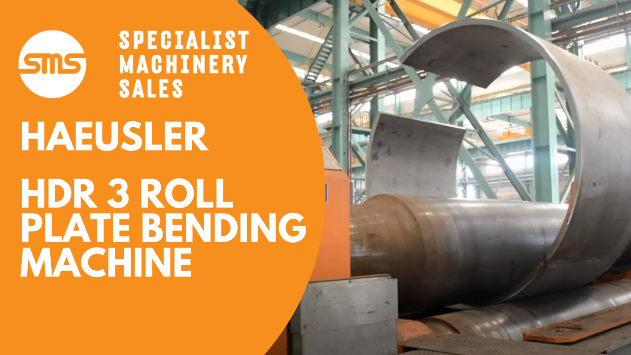 Haeusler HDR 3 Roll Plate Bending Machine - Specialist Machinery Sales