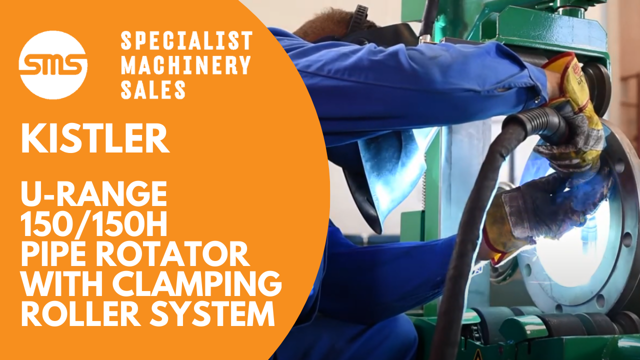 Kistler U-Range 150 150 H Pipe Rotator with Clamping Roller System Specialist Machinery Sales