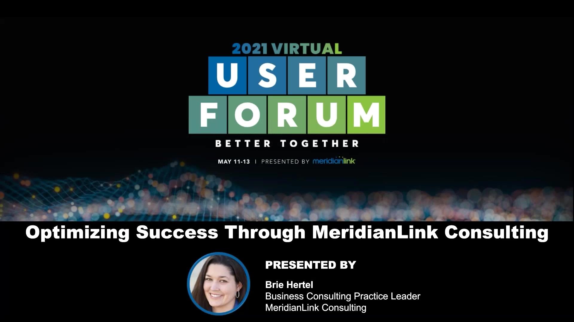 Optimizing Success through MeridianLink Consulting