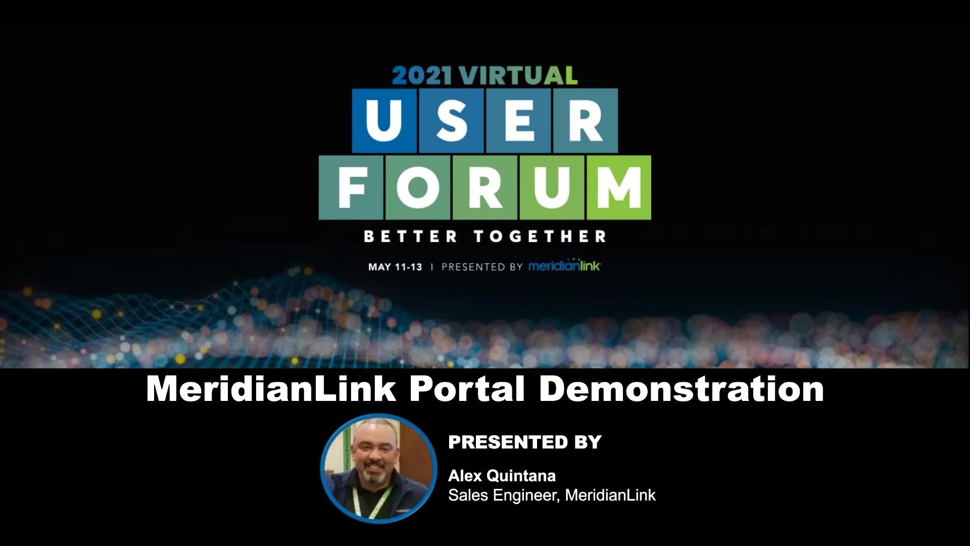 MeridianLink Portal Demonstration