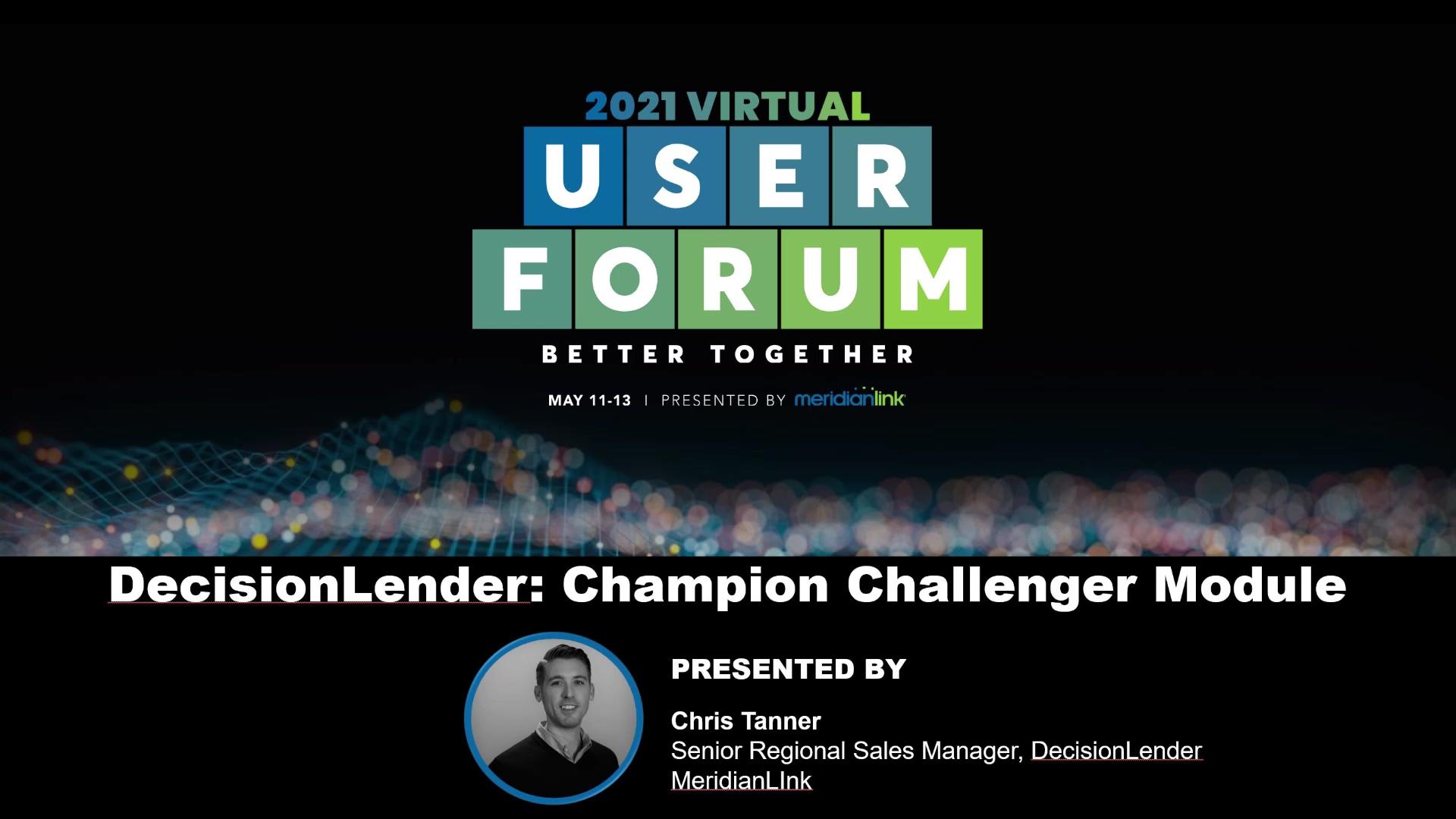 DecisionLender Champion Challenger Module