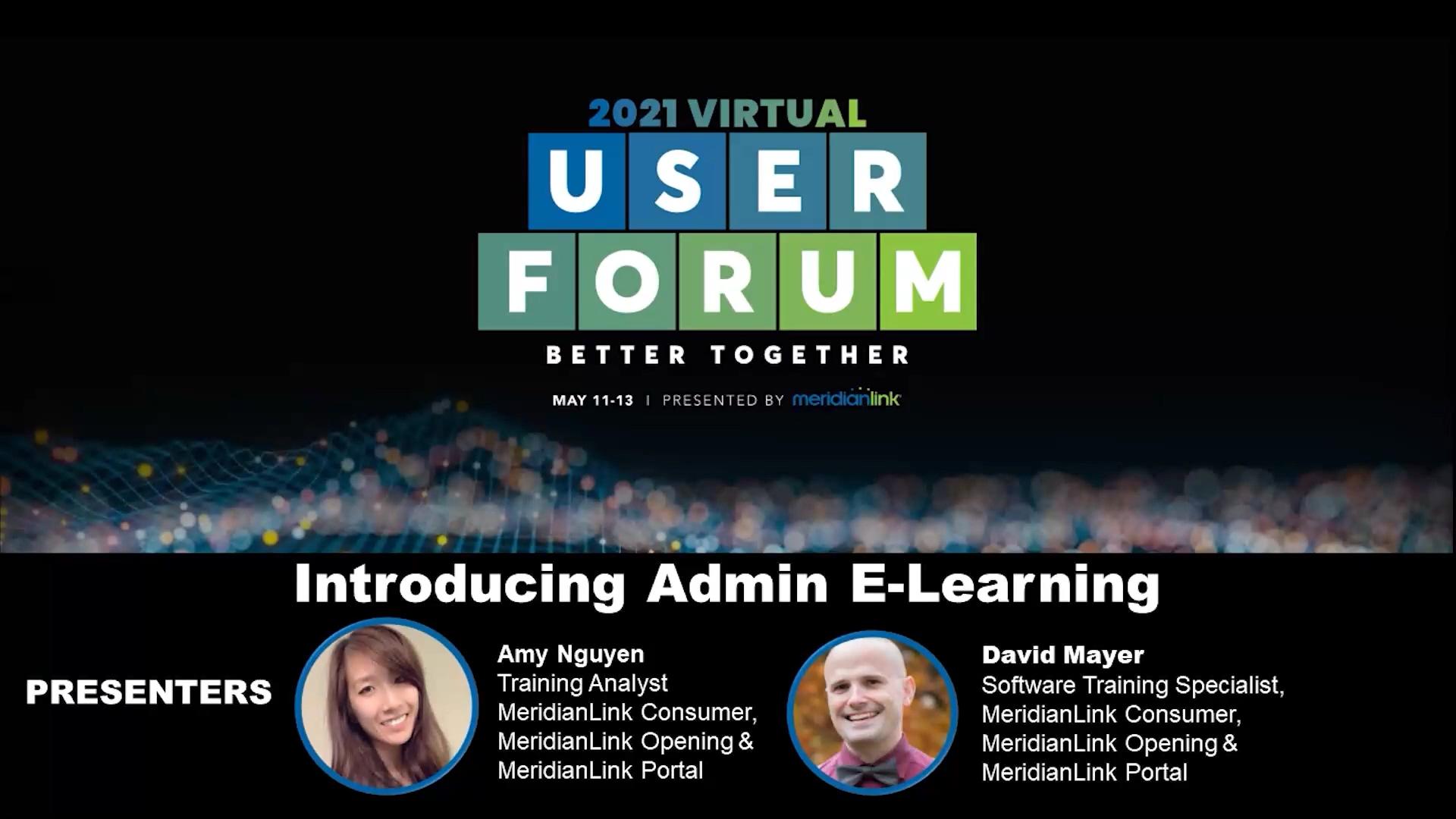 Introducing Admin E-Learning - Beginner Level