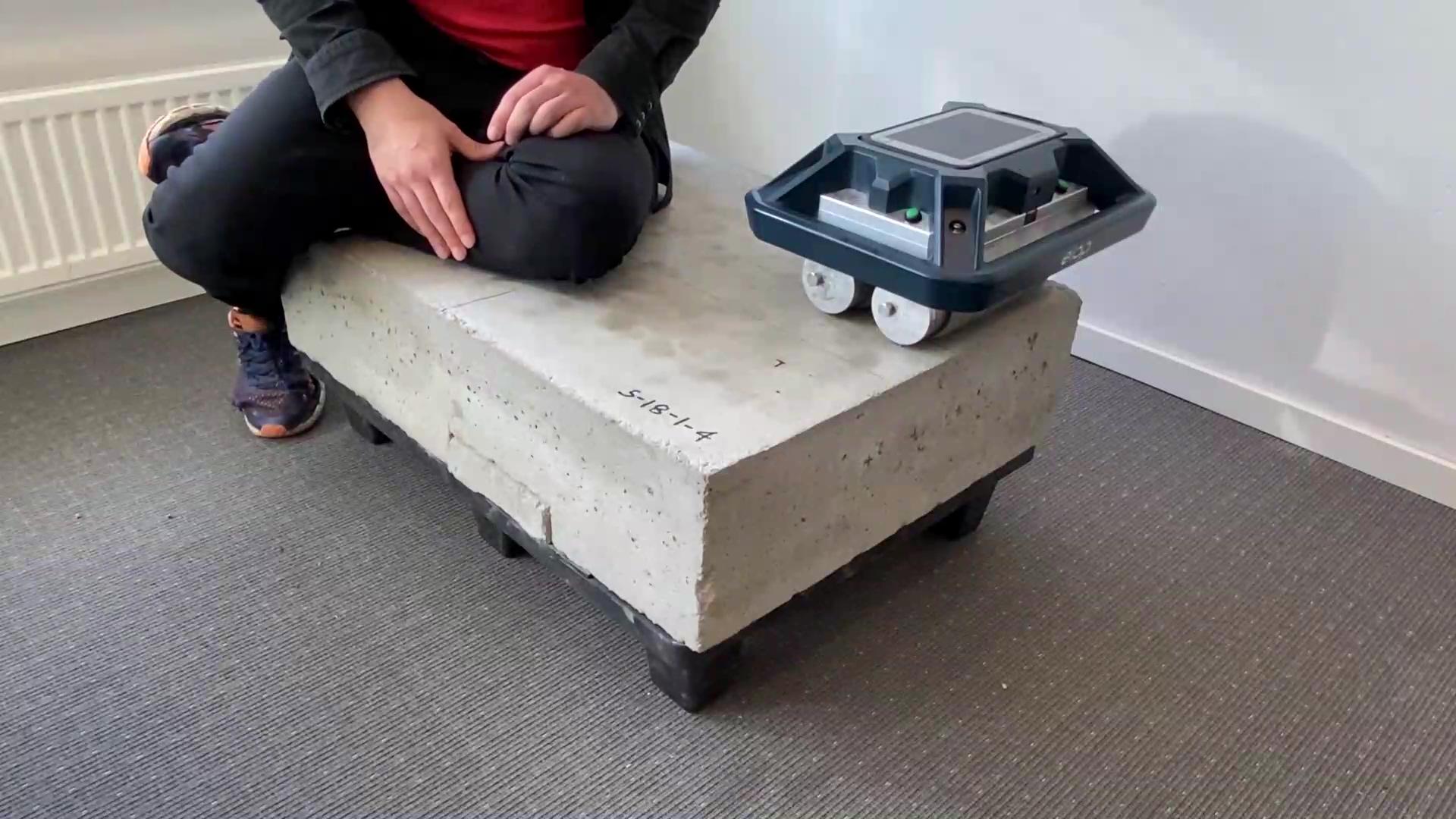 The concrete test slab