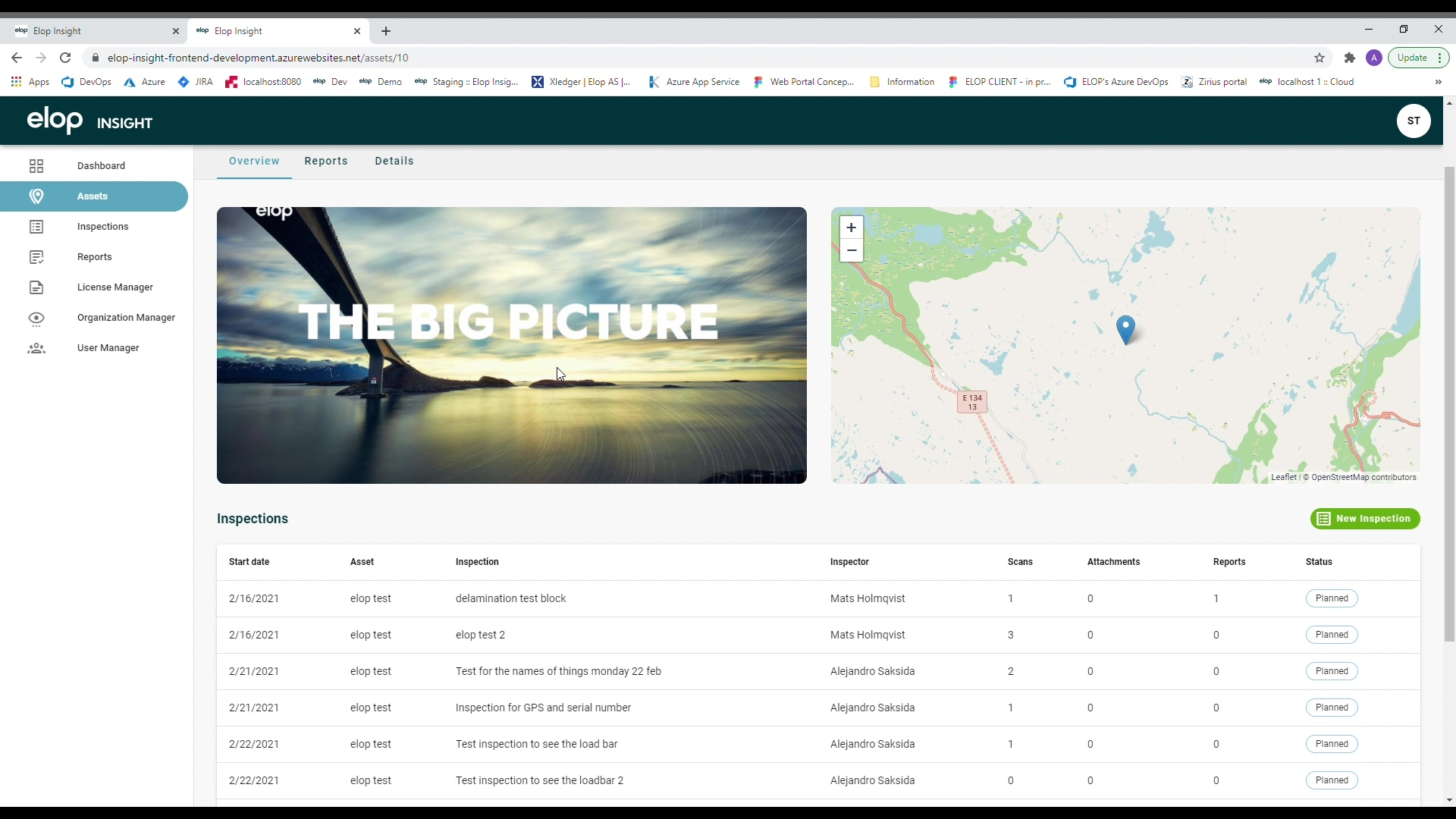 The Elop Web portal