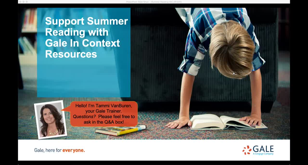 Support Summer Reading with Gale In Context Resources Thumbnail
