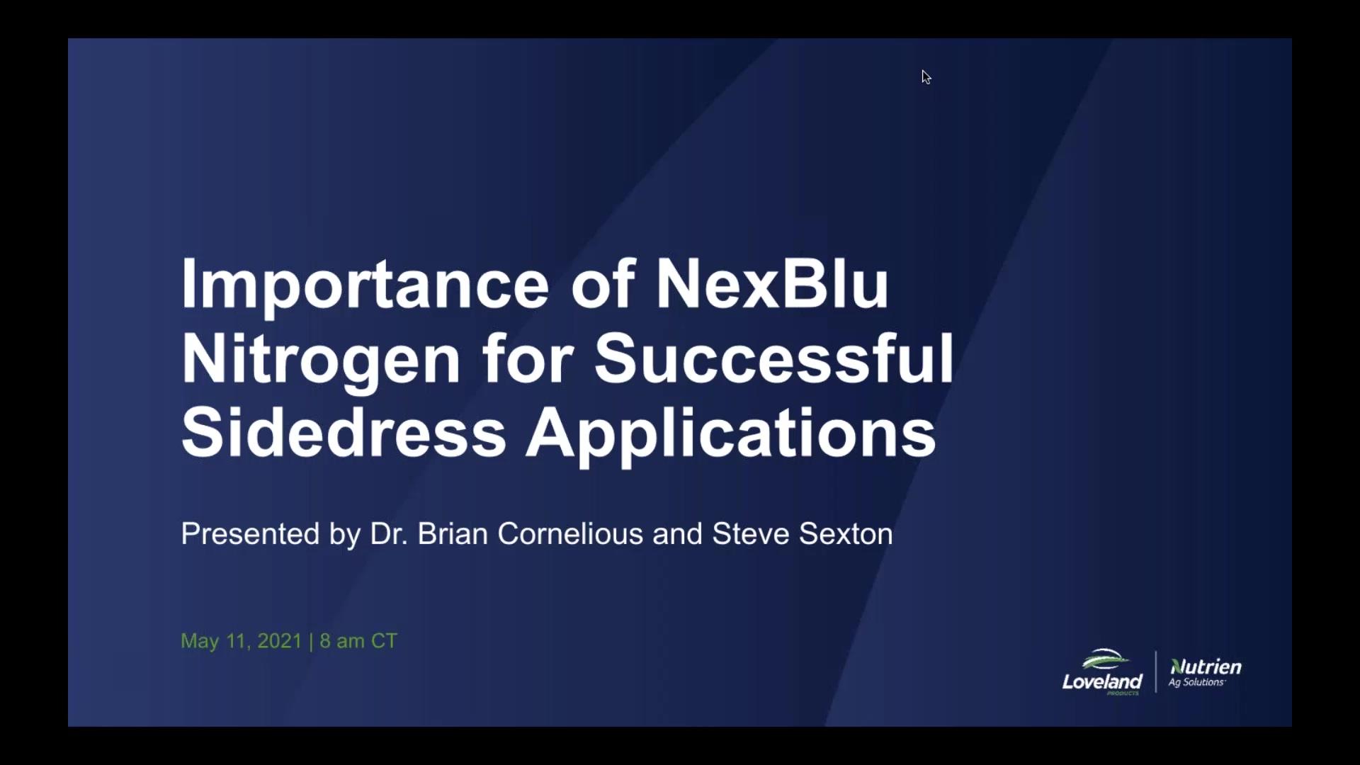 Importance of NexBlu Nitrogen for Successful Sidedress
