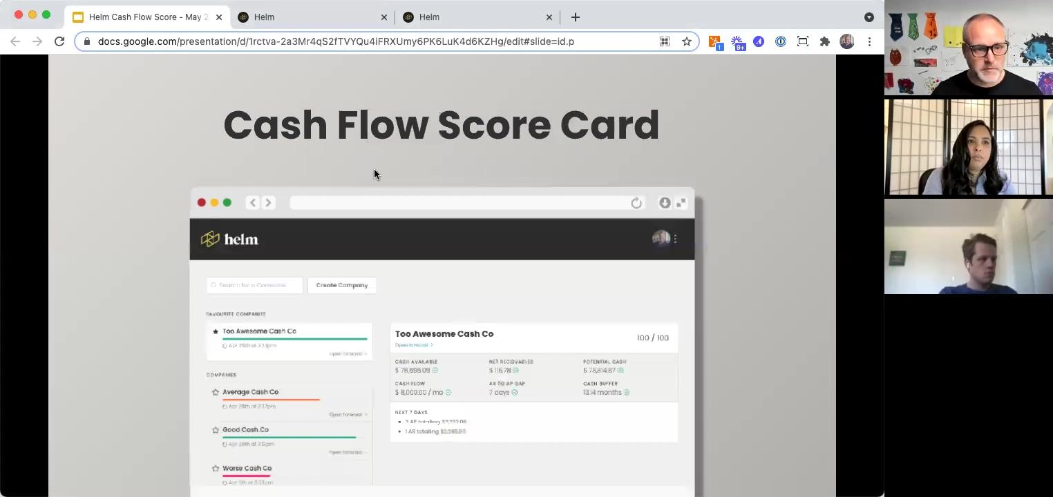 Cash Flow Health Score - Cash Flow Score Card