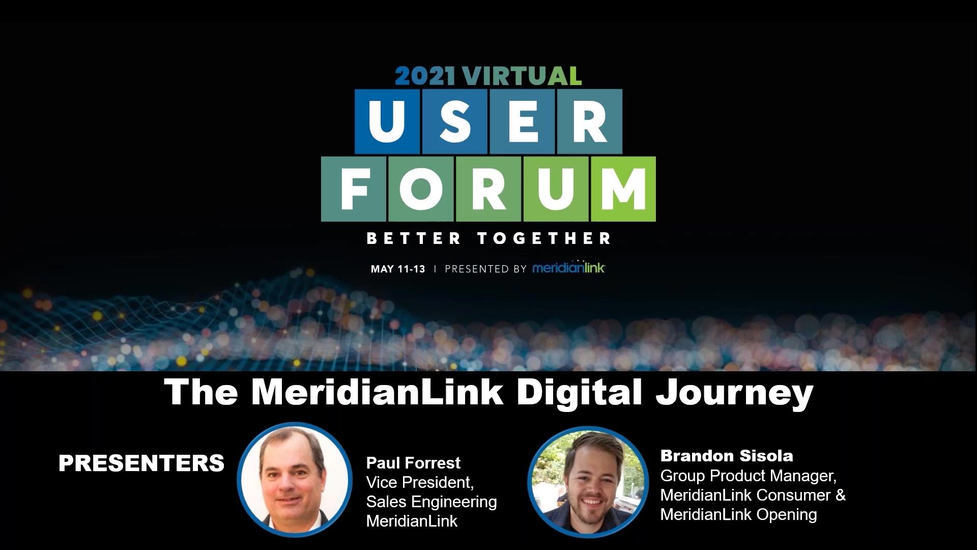 The MeridianLink Digital Journey