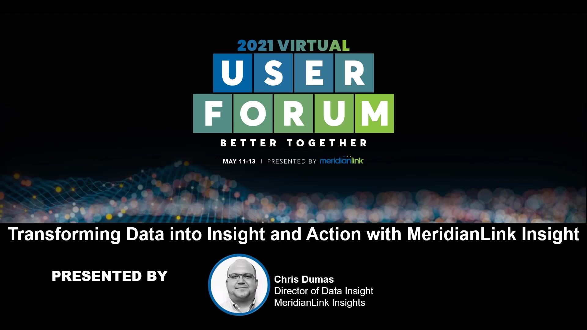 MeridianLink Insight Demonstration
