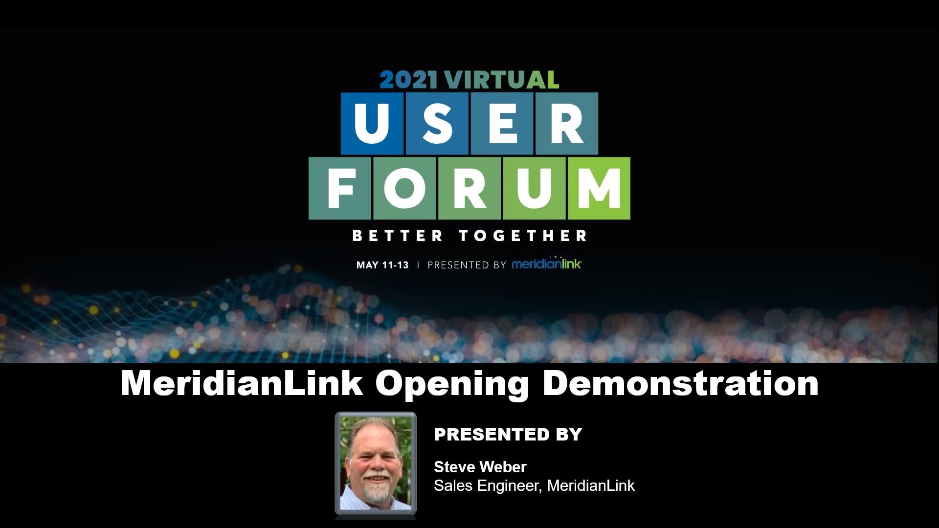 MeridianLink Opening Demonstration