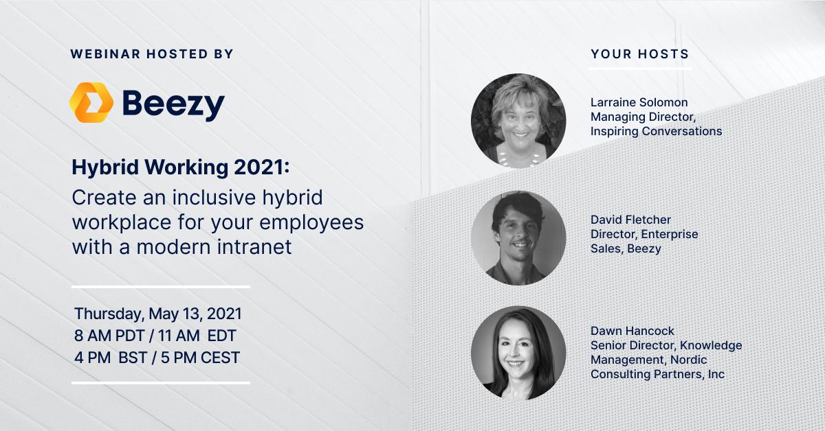 Beezy Webinar Hybrid Working May 13, 2021
