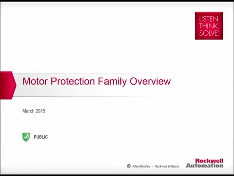 Motor Protection Family Overview