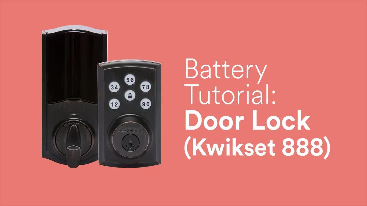 Battery Tutorial: Smart Lock (Kwikset 888)