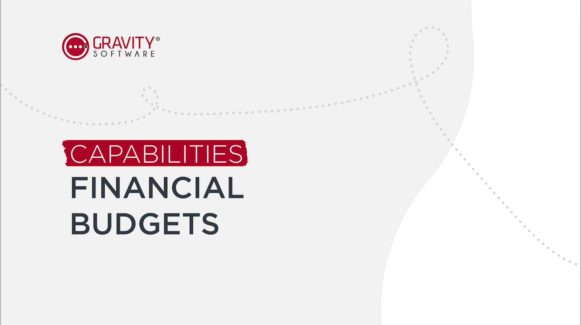 Gravity Software Financial Budgets Capabilities