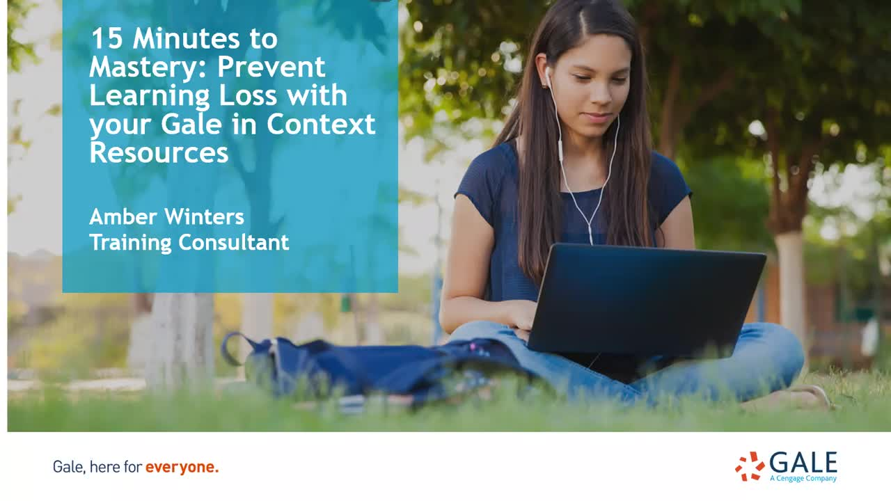 15 Minutes to Mastery: Prevent Learning Loss with Gale in Context Resources Thumbnail