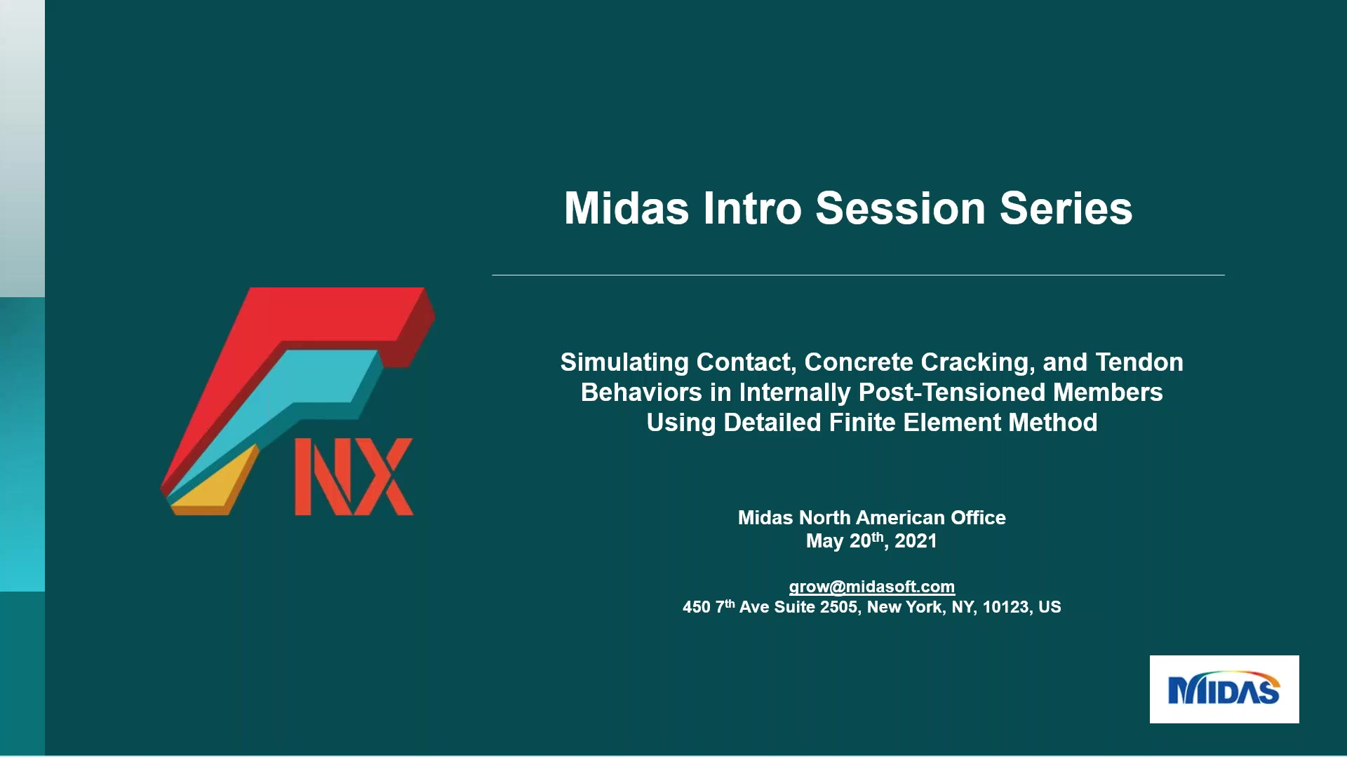 Midas Intro Session_JC_Simulating Contact, Concrete Cracking, and Tendon Behaviors Using Detailed Fi