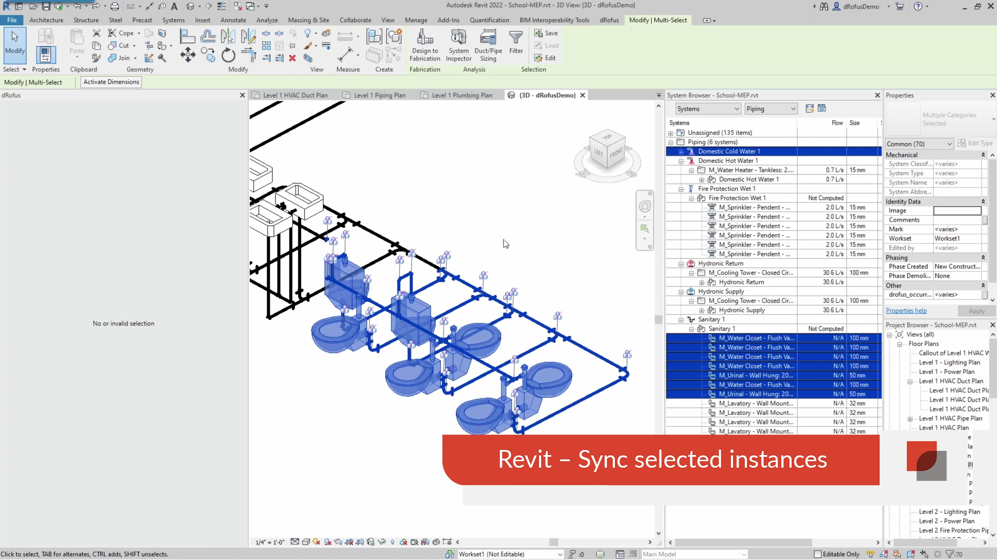 4 - Revit - Sync Selected instances-1