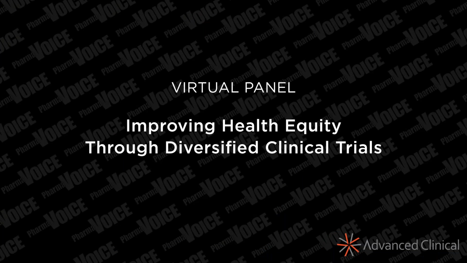 Virtual Panel_ Improving Health Equity Through Diversified Clinical Trials