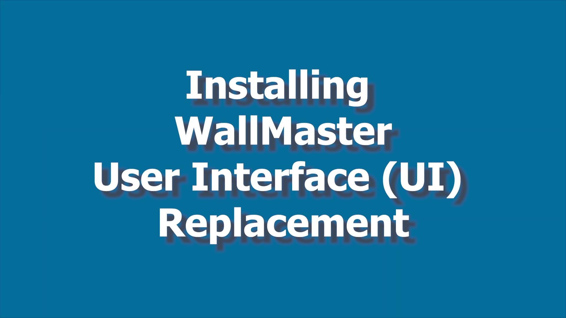 WallMaster IU Board Install