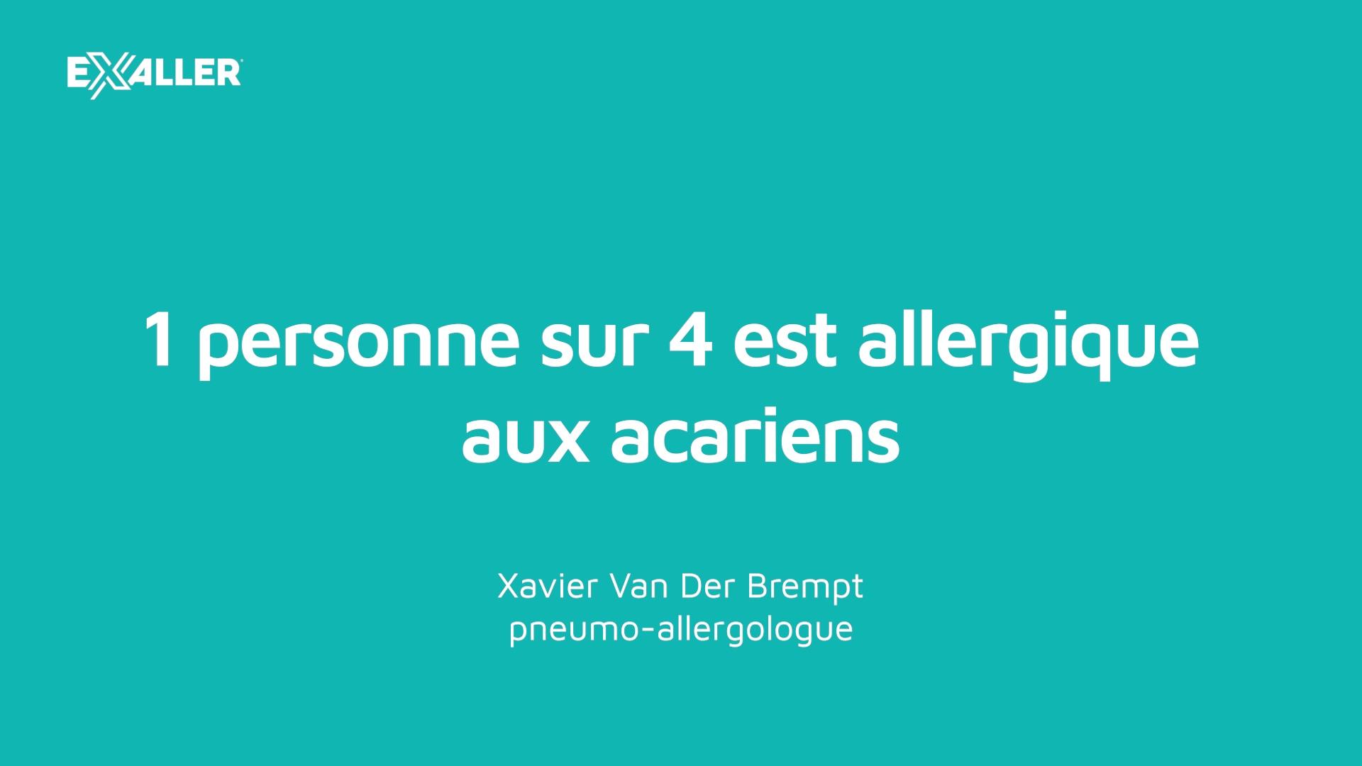 X5 1 personne sur 4 est allergique aux acariens