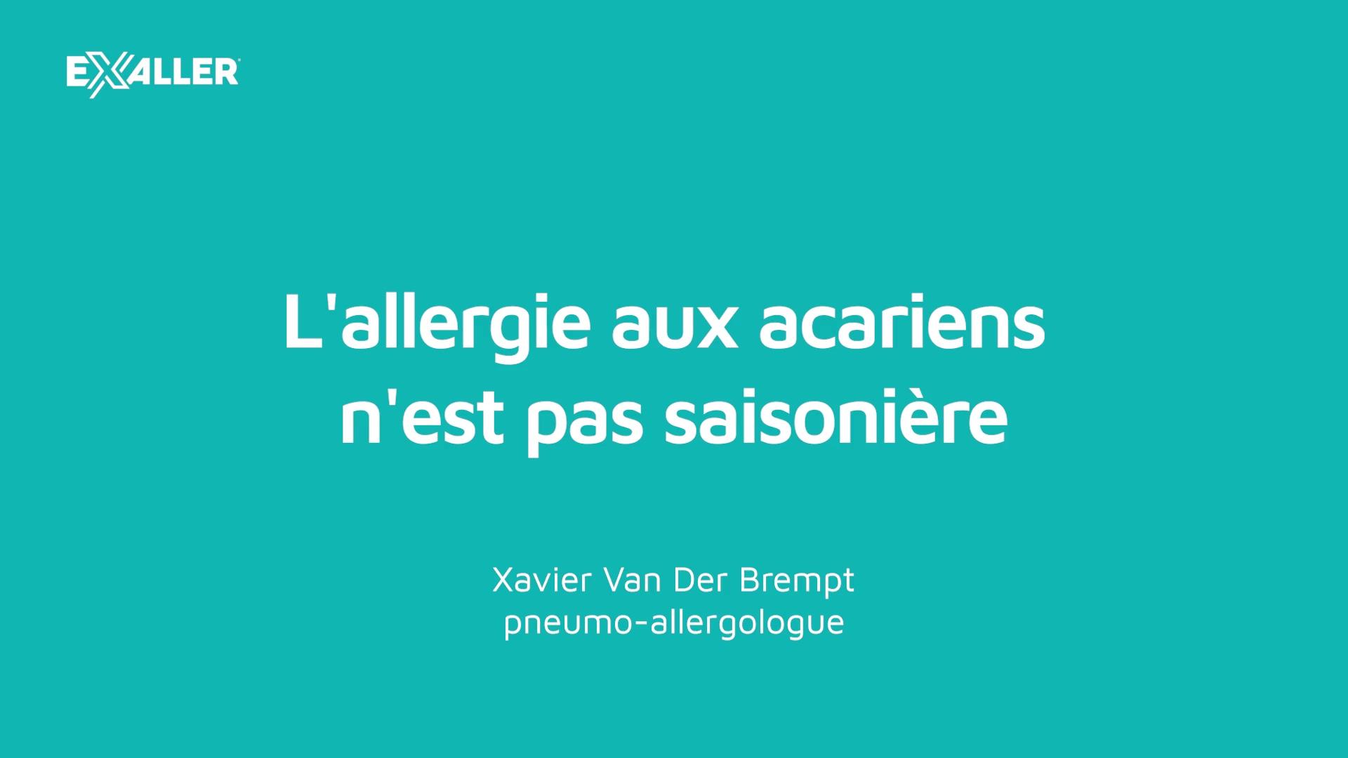 X8 Lallergie aux acariens nest pas saisonière