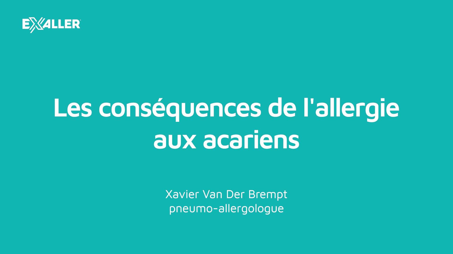 X9 Les conséquences de lallergie aux acariens