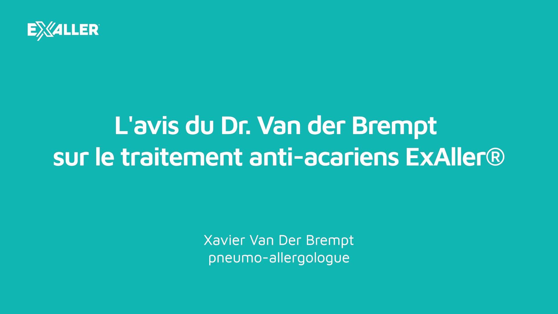 X13 Lavis du Dr. Van der Brempt sur le traitement anti-acariens ExAller
