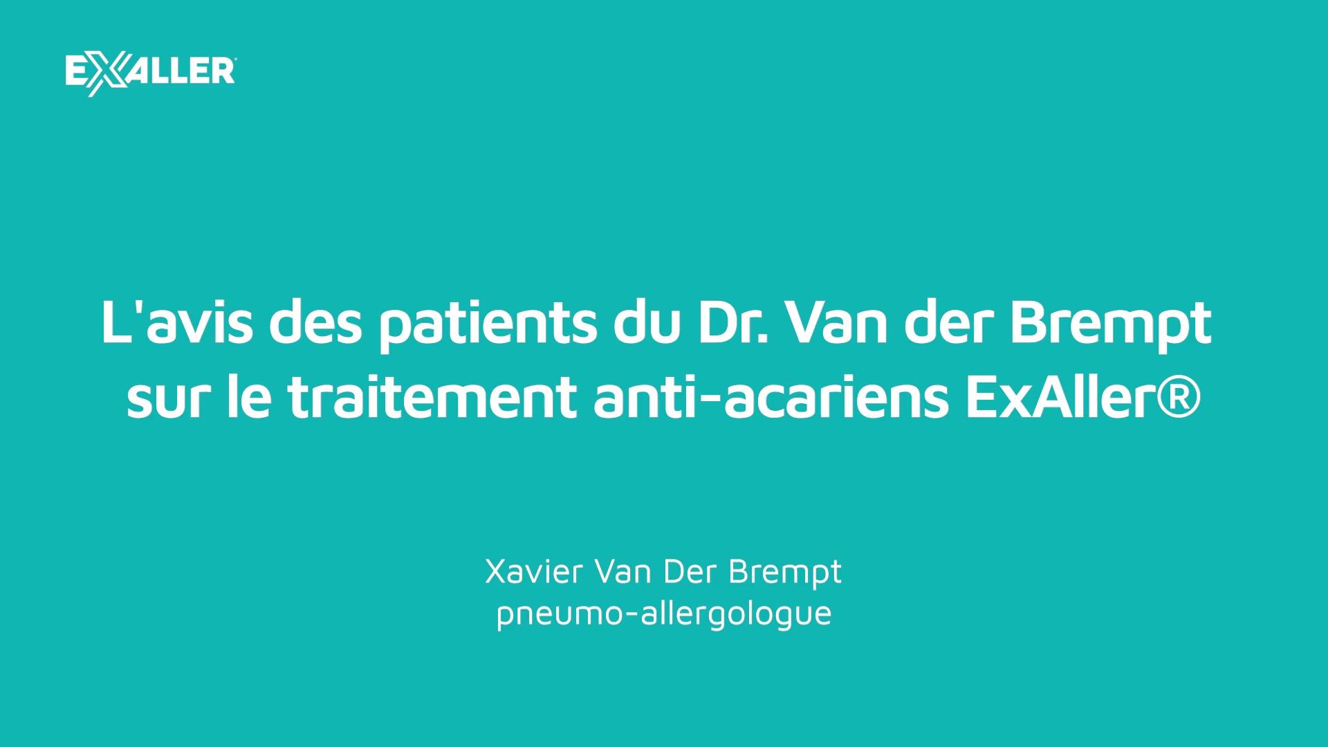 X15 Lavis des patients du Dr. Van der Brempt sur le traitement anti-acariens ExAller