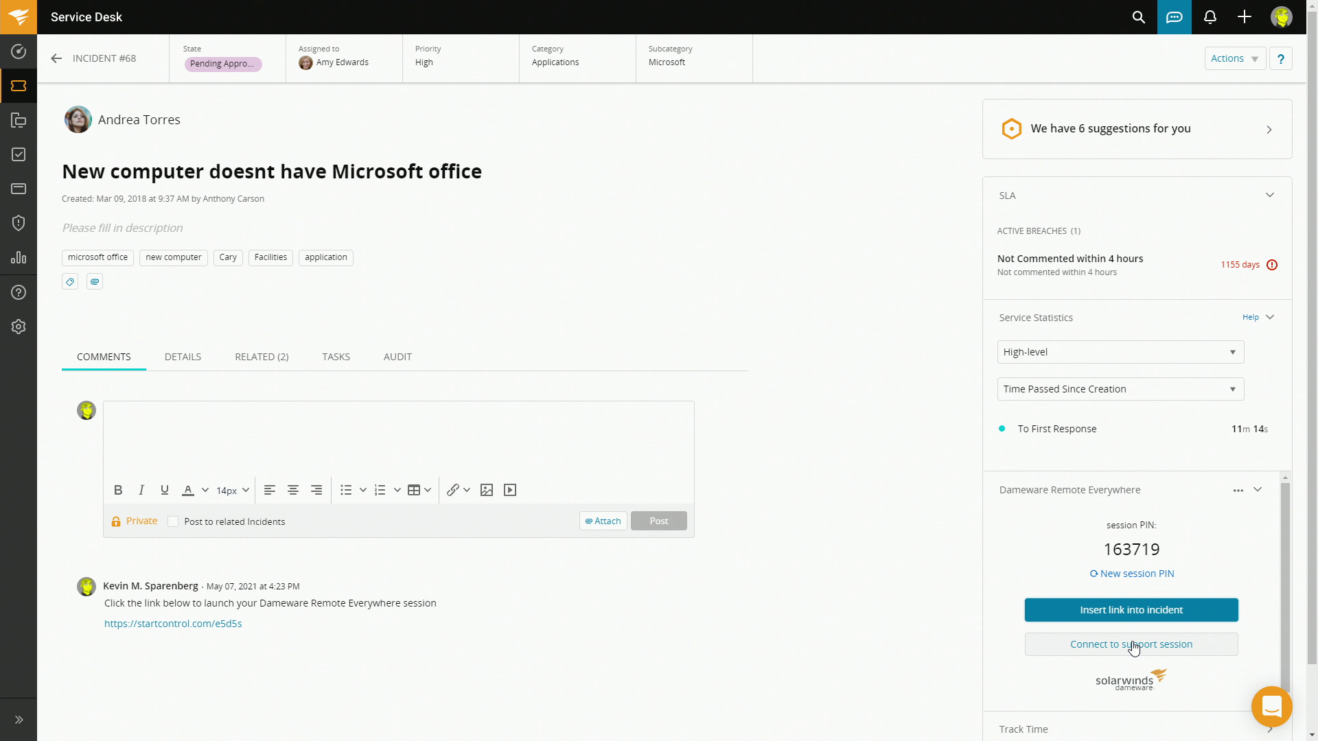 How to Integrate SolarWinds Service Desk with Dameware Remote Everywhere