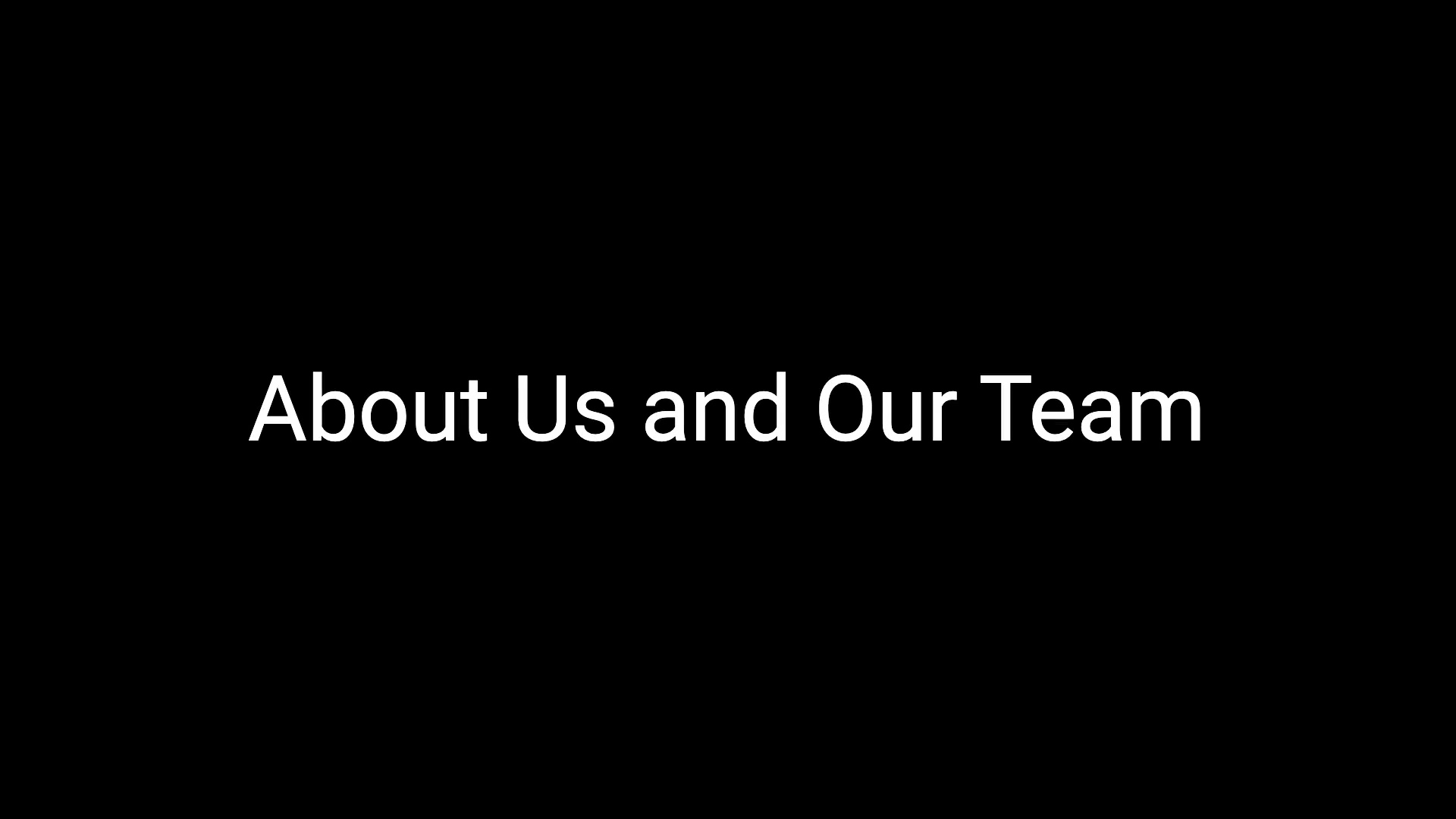 About us and our team