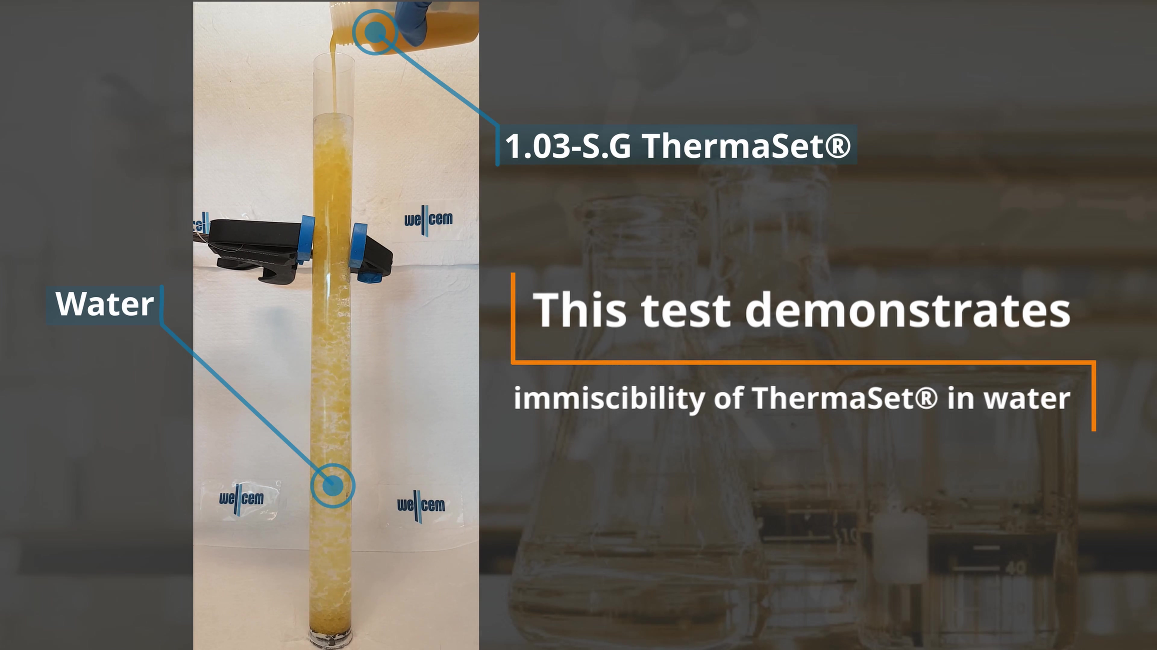 Immiscibility_of_ThermaSet_in_water