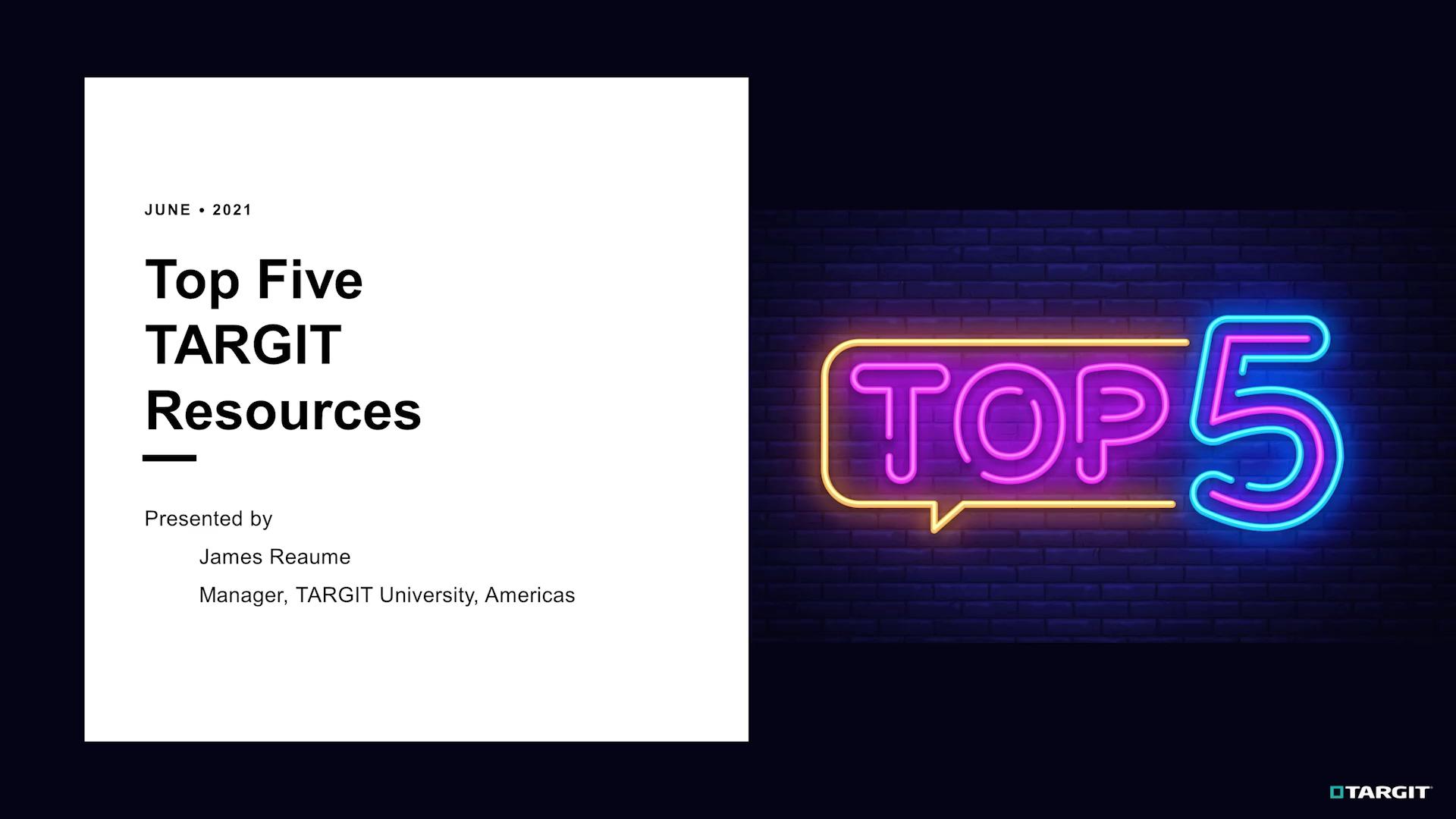 Top5 TARGIT Resources.mp4
