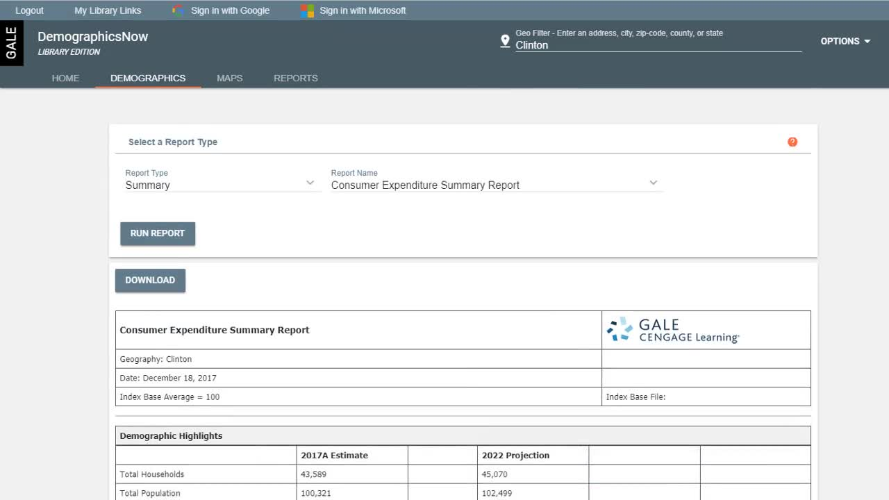 Gale Business: DemographicsNow - Analyzing Market Size and Demographics Thumbnail