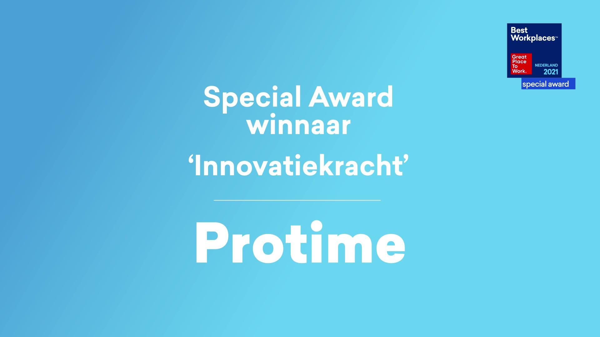 Protime_Special Award winnaar Innovatiekracht