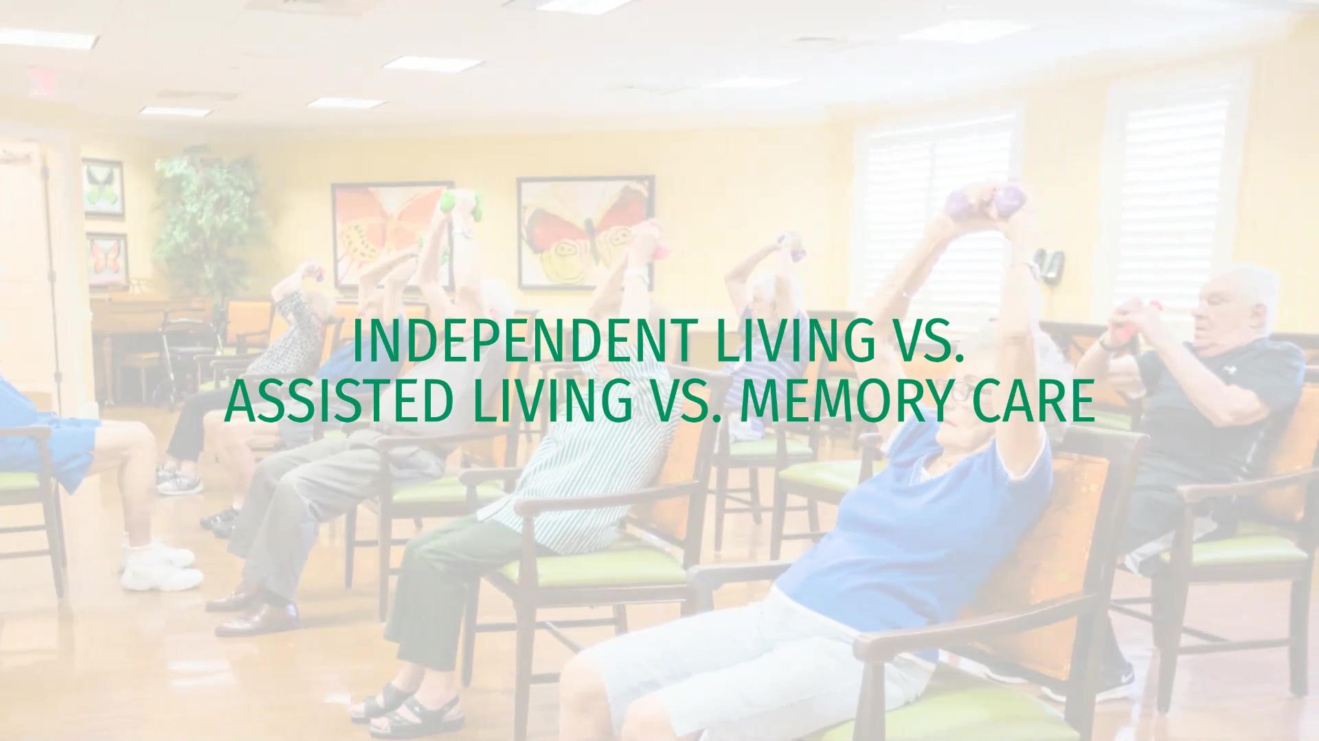 Cedarhurst_INDEPENDENT LIVING VS. ASSISTED LIVING VS. MEMORY CARE_video