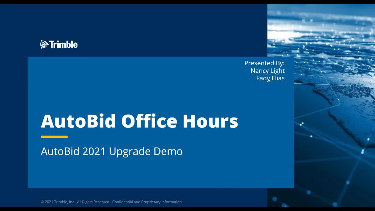 AutoBid 2021 Office Hours - Upgrade Demo