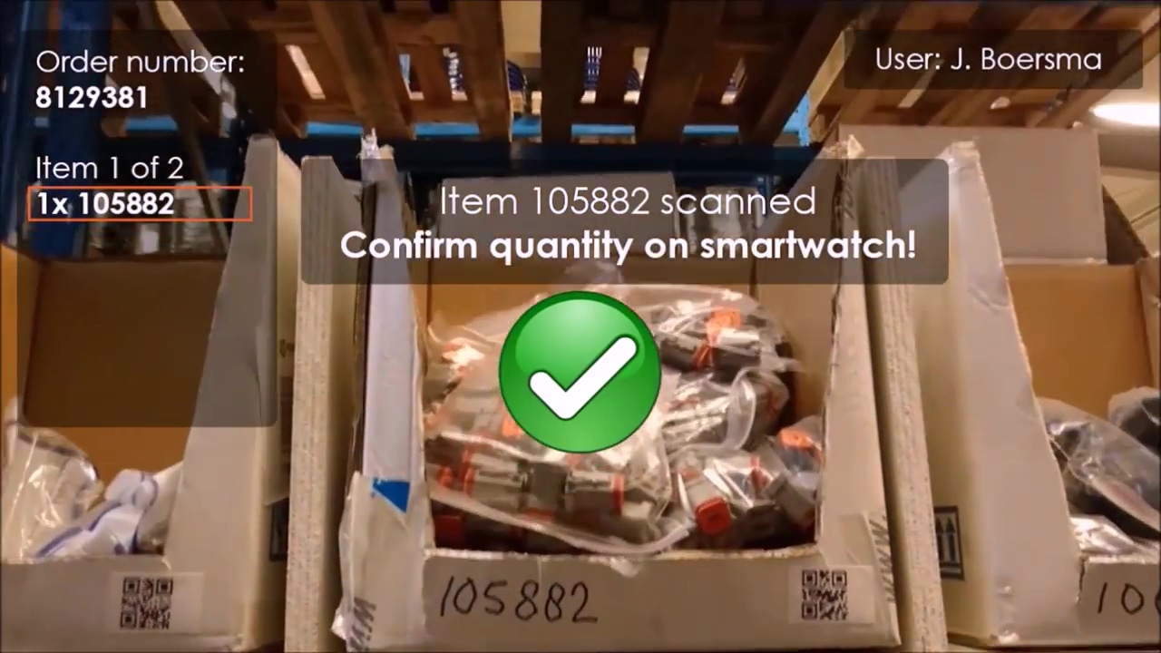 Smart glasses order picking innovation in warehouse and logistics