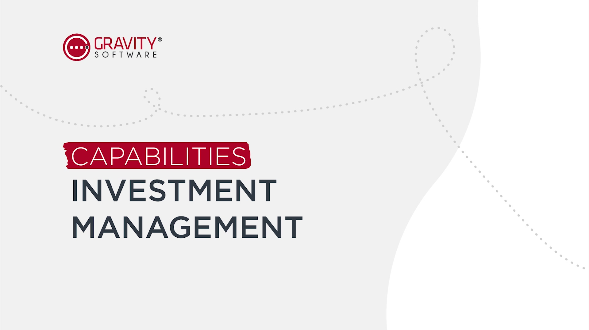 Gravity Software Investment Management SubLedger Capabilities