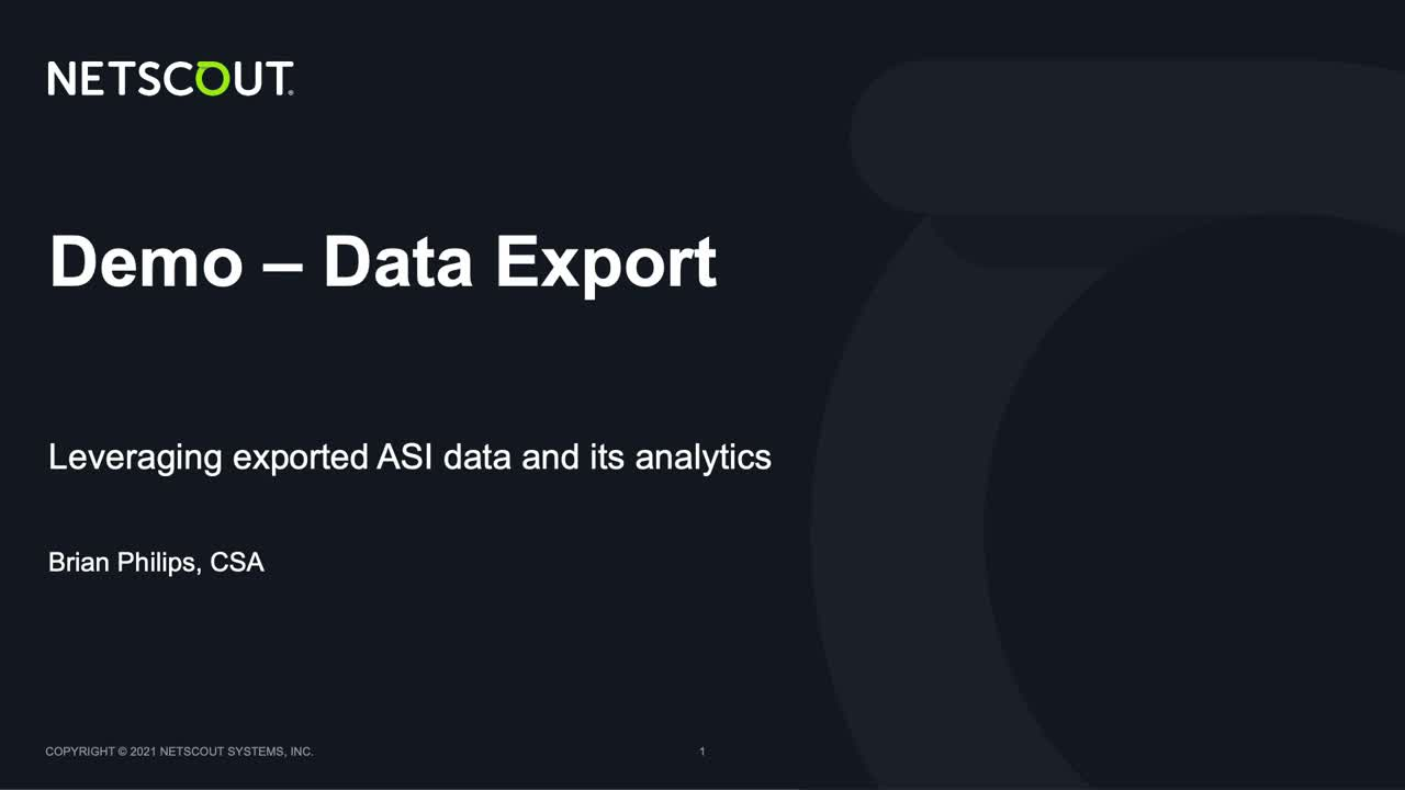 Data Export and Analysis Demo video