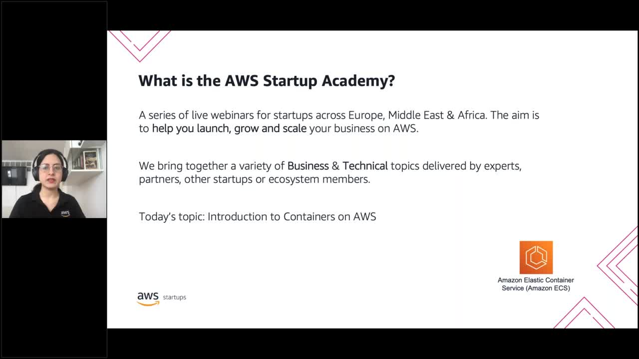 AWS Startup Academy: Introduction to Containers on AWS