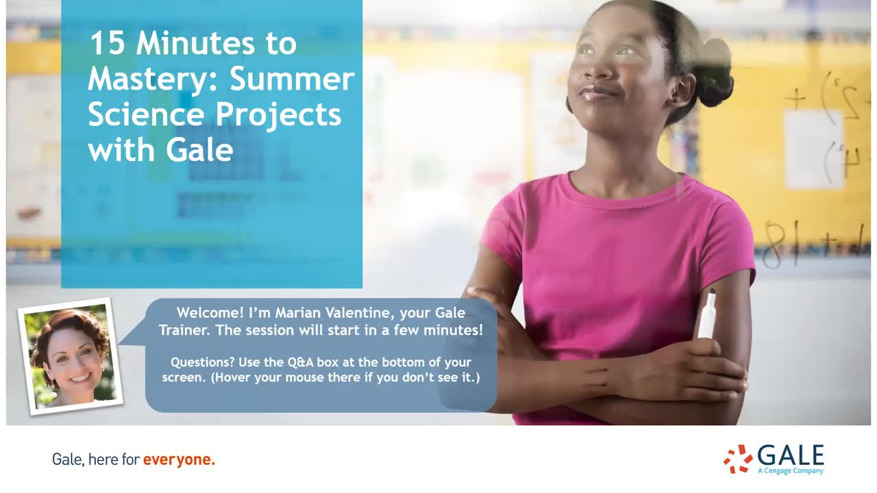 15 minutes to Mastery: Summer Science Projects with Gale Thumbnail