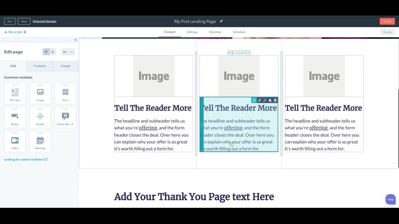 Landing Page Design - benefits