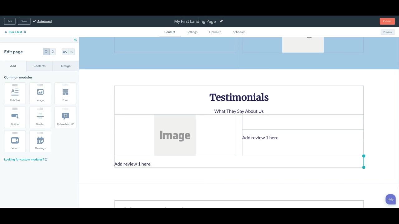 Landing Page Design - Testinomal