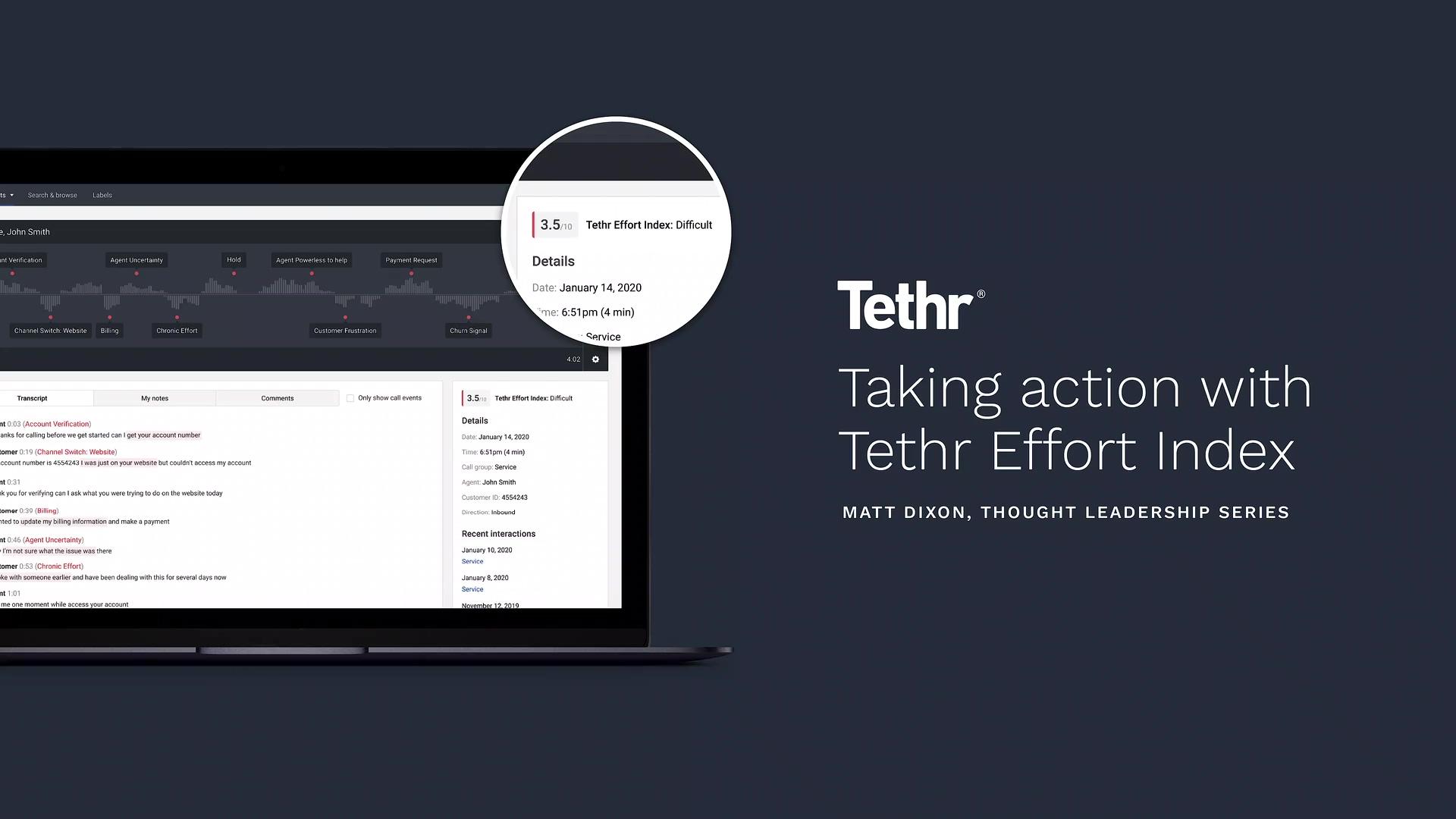 Tethr - Taking action with Tethr Effort Index Video