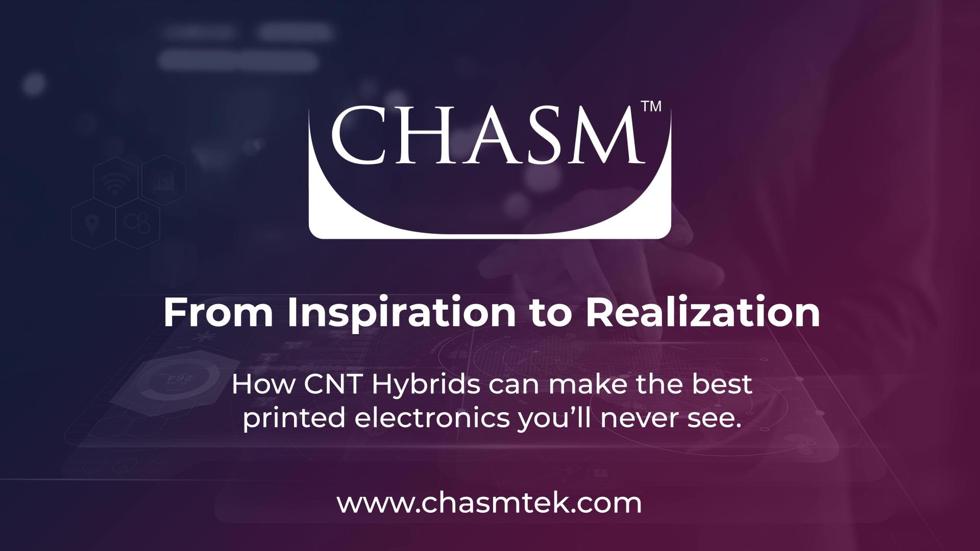 ( WEBINAR ) From Inspiration to Realization - CNT Hybrids