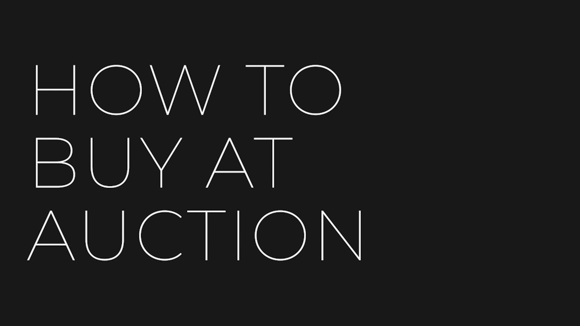 How To Buy at Auction